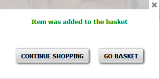 Continue Shopping or Go Basket
