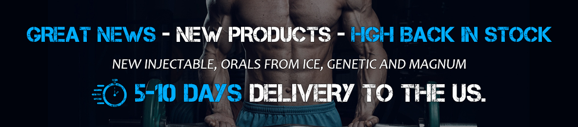 Great News - New Products - HGH Back in Stock